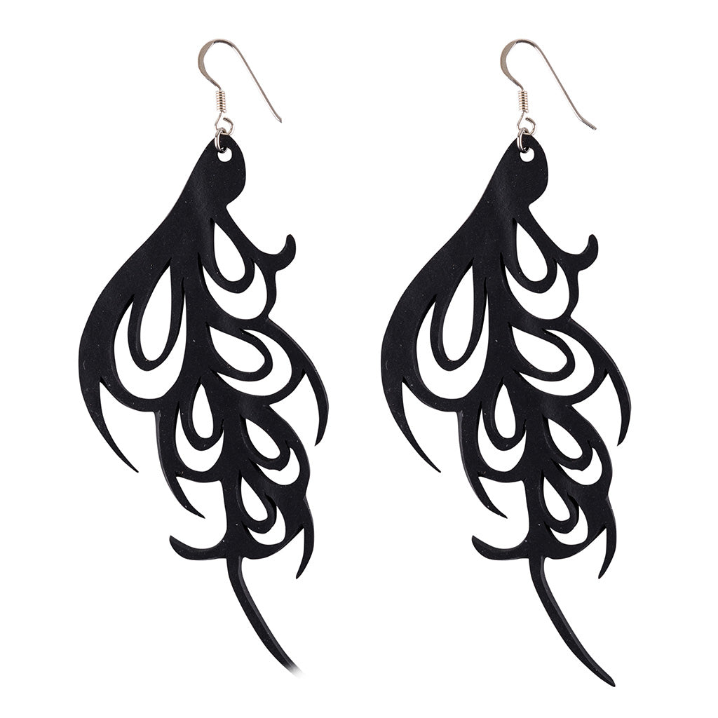 Bella Elegant Art Nouveau Inner Tube Earrings
