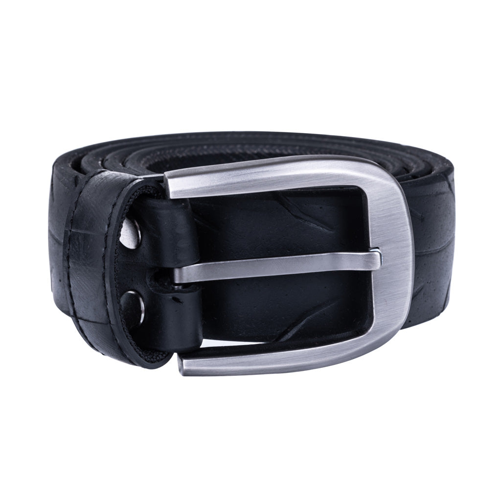 Recycled Rubber Motorbike Tyre Vegan Belt (Large Buckle)