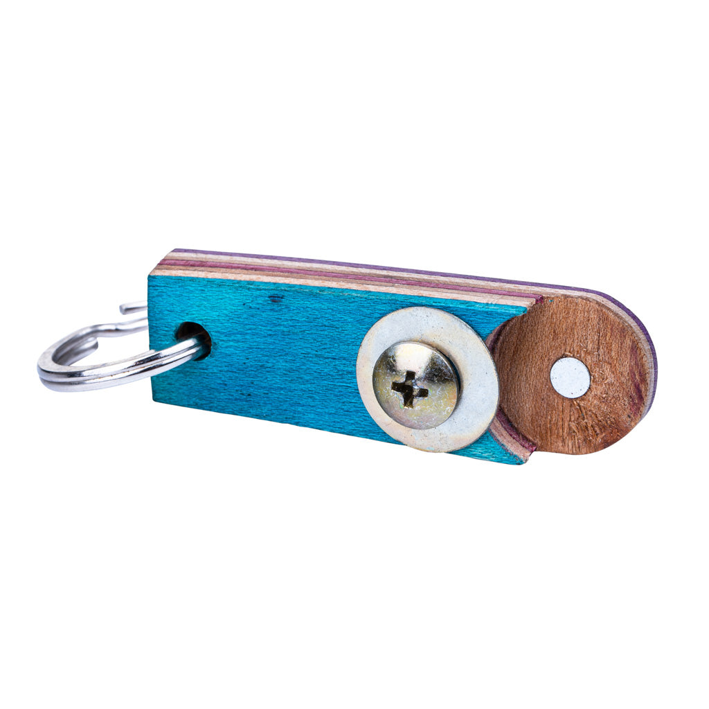 Recycled Skateboard Bottle Opener Keyring by Paguro Upcycle