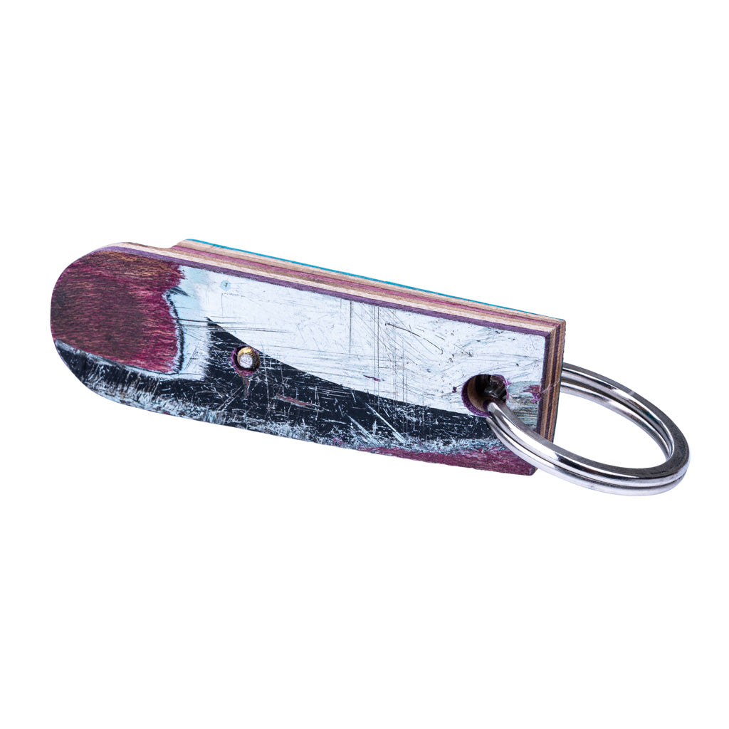 Recycled Skateboard Bottle Opener Keyring