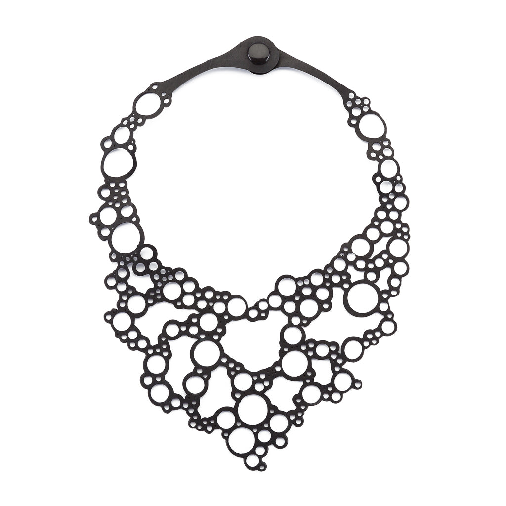 Bubbles Rubber Necklace by Paguro Upcycle