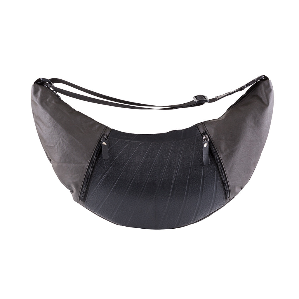 Squad  Vegan Crossbody Sling Hobo Bag by Paguro Upcycle