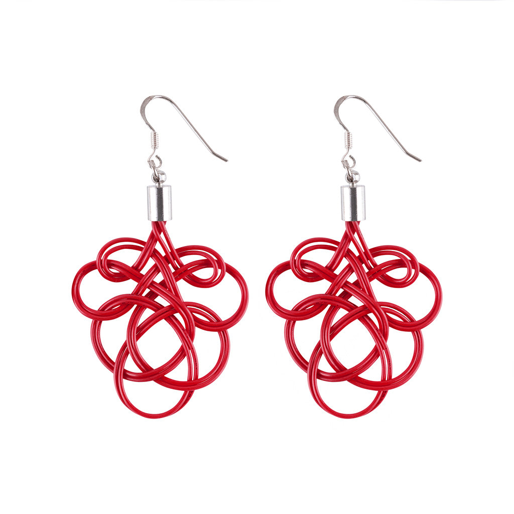 Flamenco Upcycled Electrical Wire Earrings (5 Colours Available)