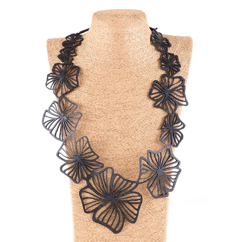 Canna Handmade Long Floral Necklace