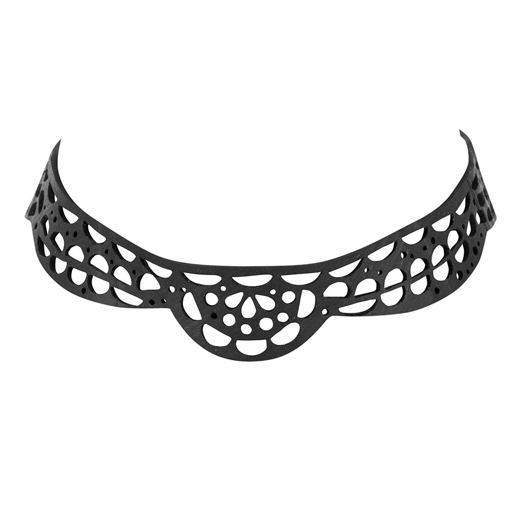 Lace Vegan Inner Tube Choker by Paguro Upcycle