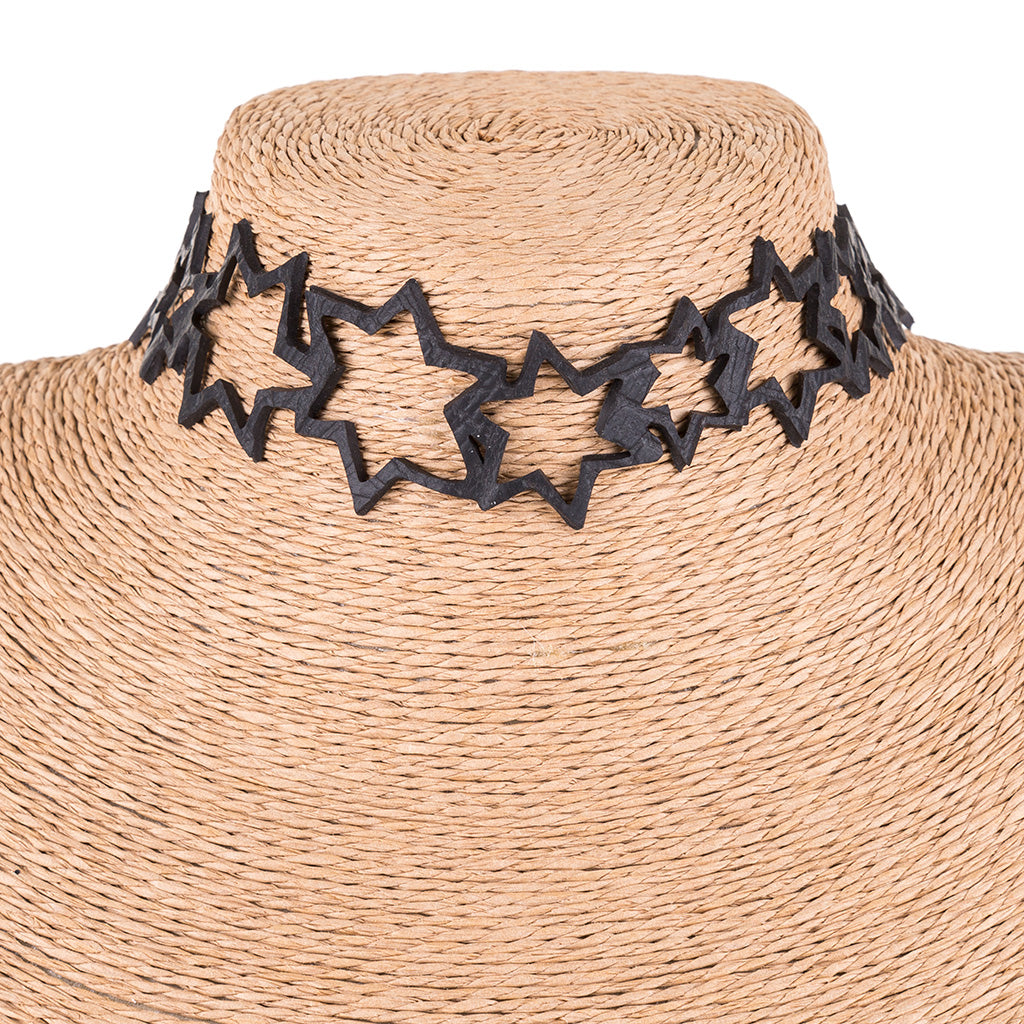Milky Way Inner Tube Star Choker by Paguro Upcycle