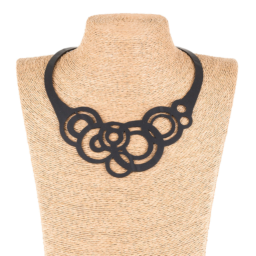 Circular Rubber Necklace by Paguro Upcycle