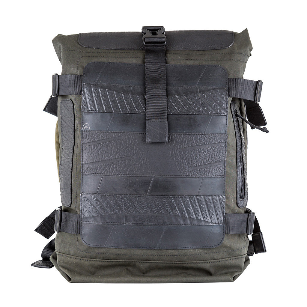 Waterproof Roll Top Vegan Backpack