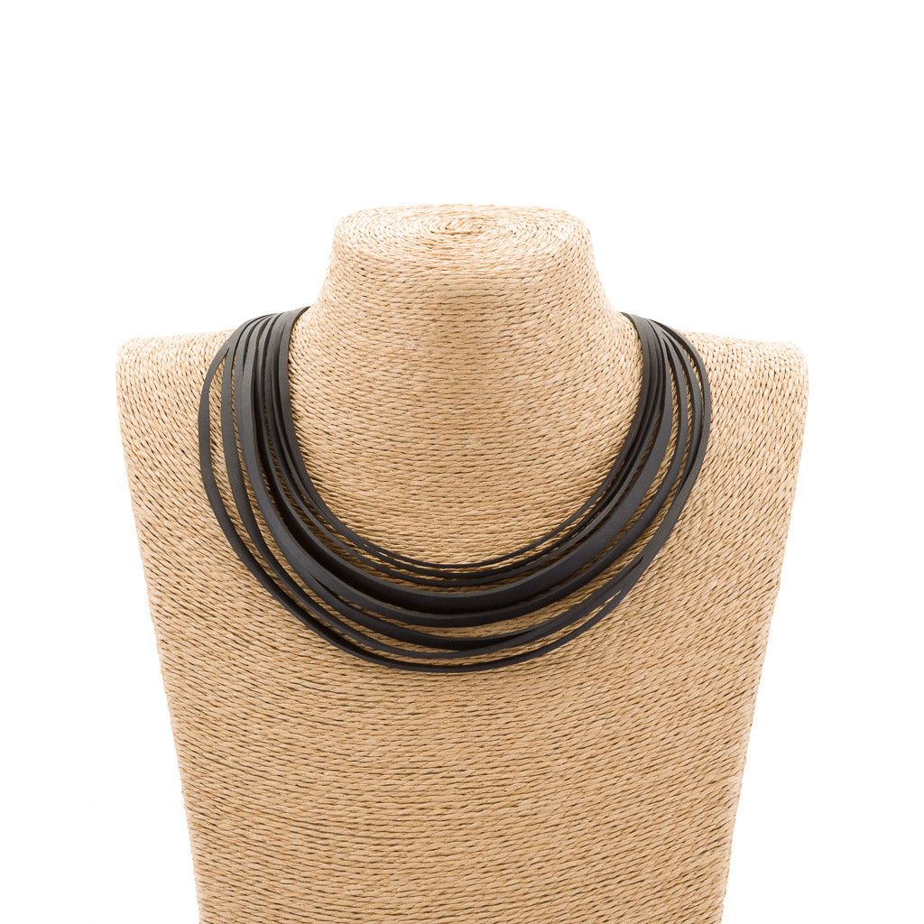 Carter Layered Recycled Rubber Necklace by Paguro Upcycle