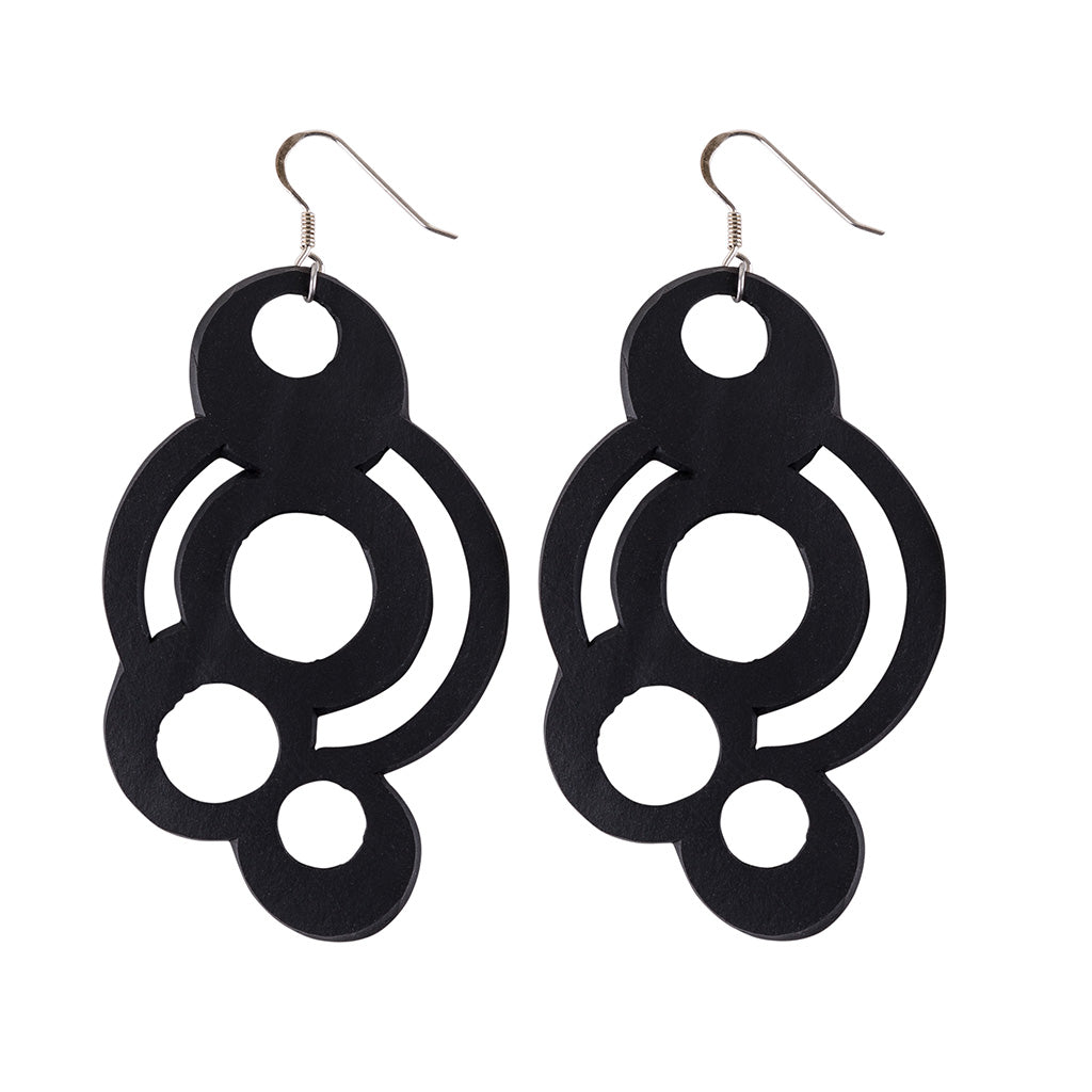 Circular Inner Tube Earrings by Paguro Upcycle