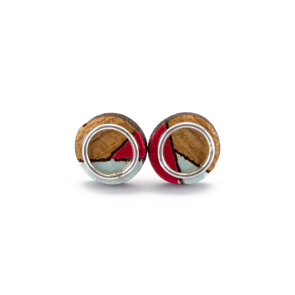 Conture Eco Luxury Wood Stud Earrings (4 Colours available) by Paguro Upcycle
