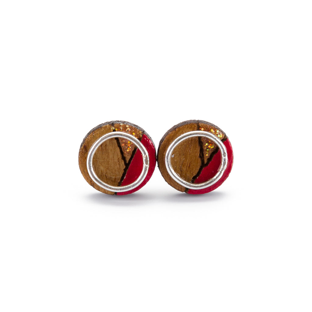 Conture Eco Luxury Wood Stud Earrings (4 Colours available)
