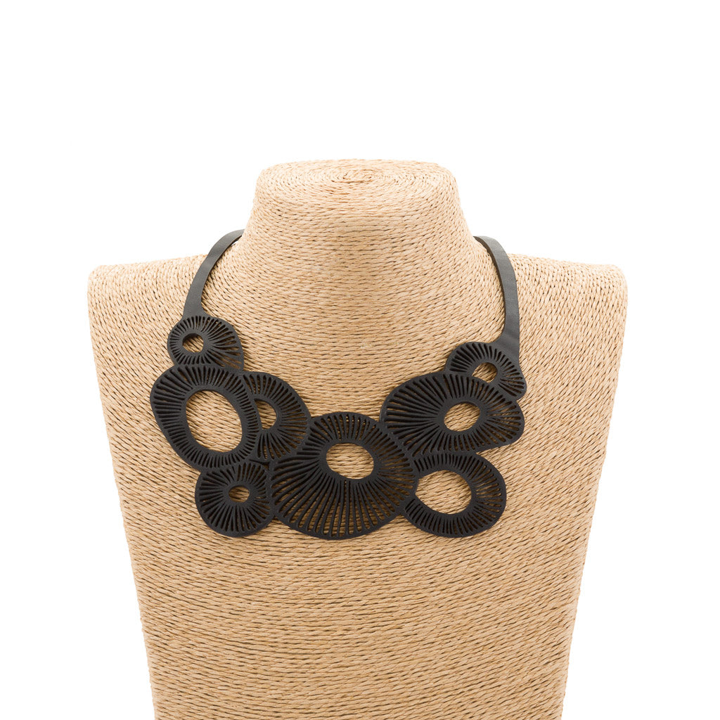 Coral Eco Friendly Rubber Necklace by Paguro Upcycle