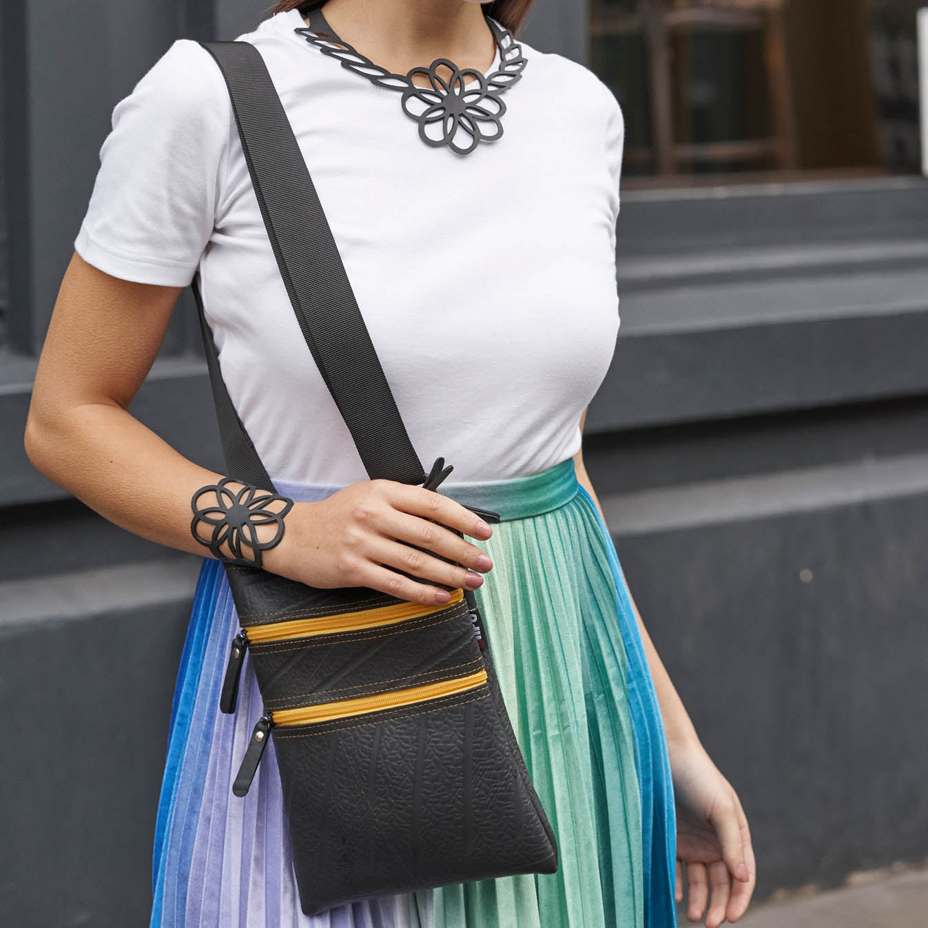Maggie Inner Tube Vegan Bag (6 Colours Available) by Paguro Upcycle