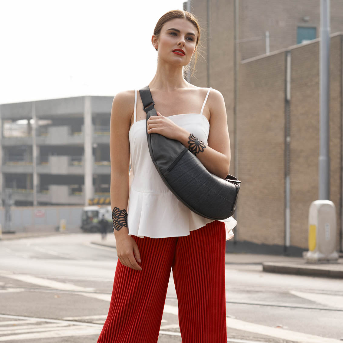 Squad  Vegan Crossbody Sling Hobo Bag