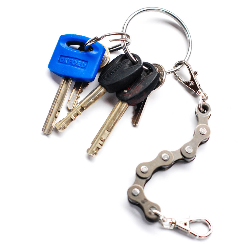 Recycled Bike Chain Vegan Keyring