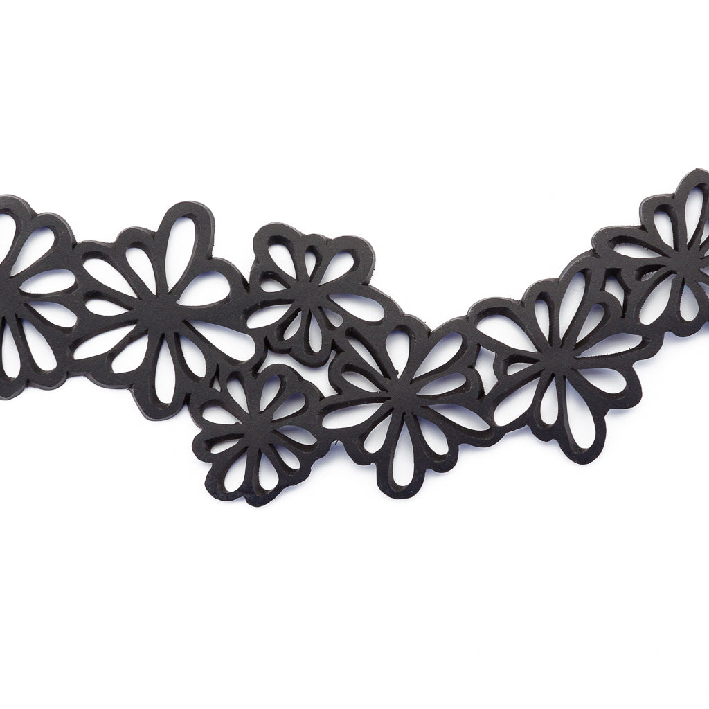Dahlia Recycled Rubber Statement Flower Choker