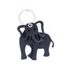 Jumbo 3D Recycled Rubber Elephant Vegan Keyring by Paguro Upcycle