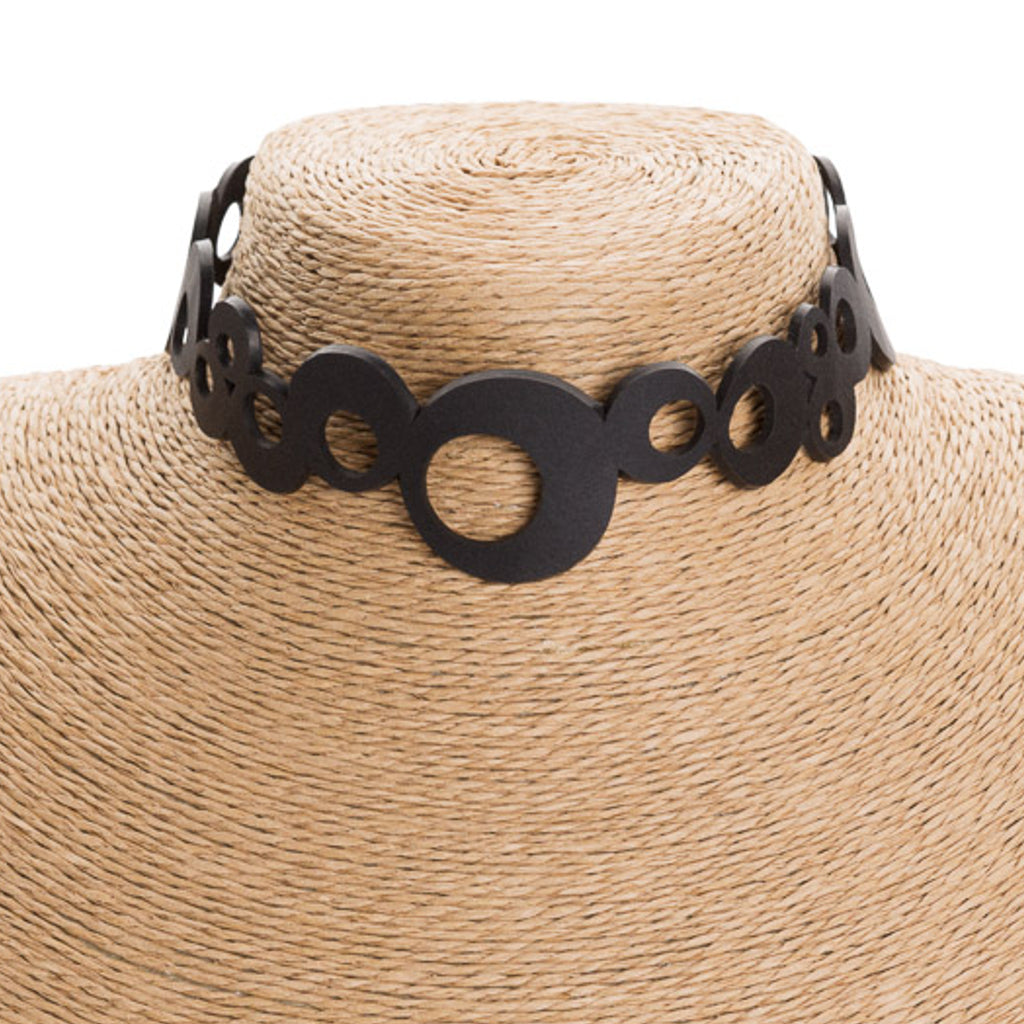 Eternity Recycled Rubber Choker by Paguro Upcycle