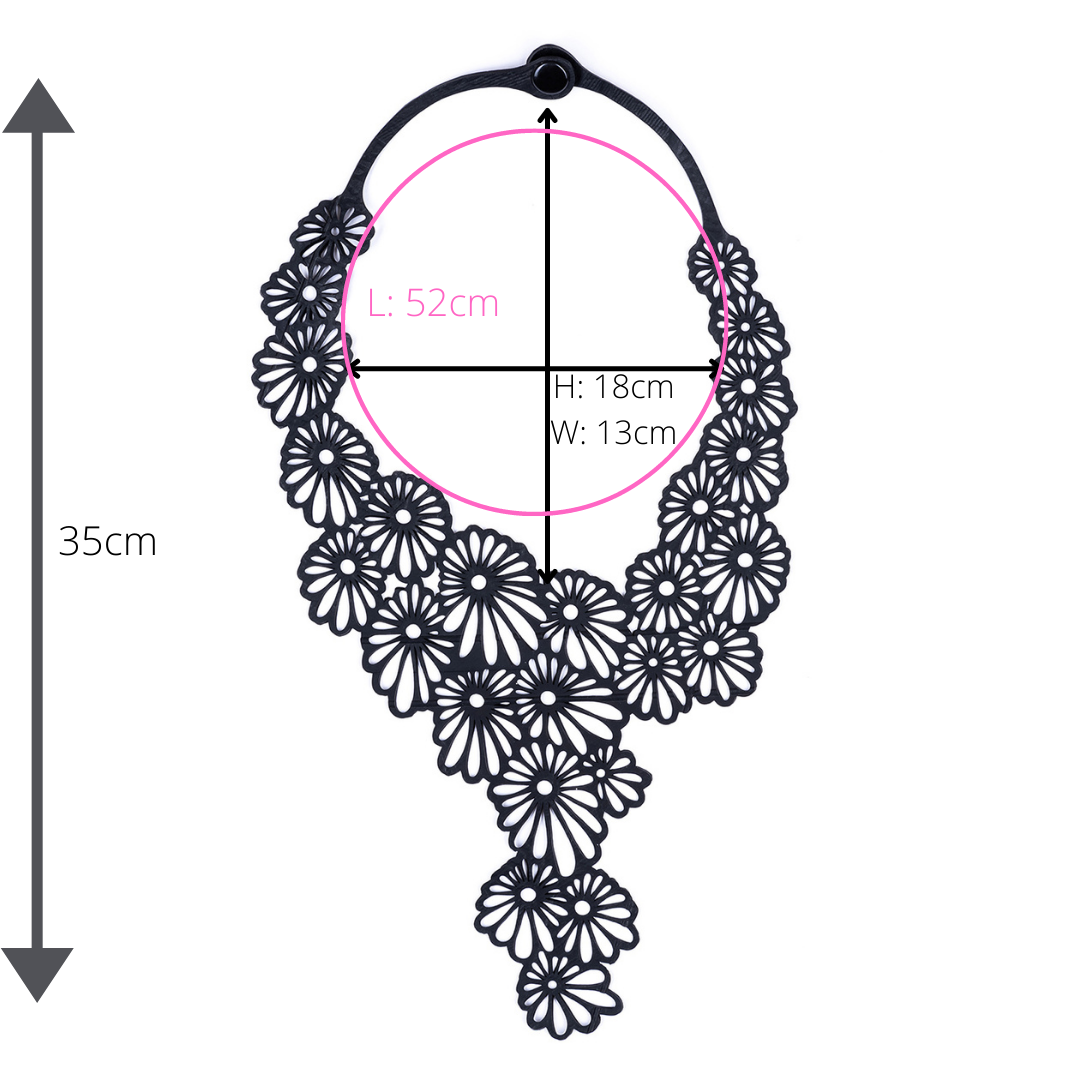 Daisy Statement Inner Tube Necklace