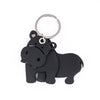Hippo 3D Recycled Rubber Vegan Keyring