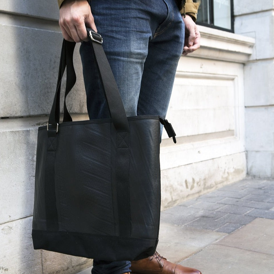Rika Spacious Inner Tube Vegan Tote Bag (3 Colours Available) by Paguro Upcycle
