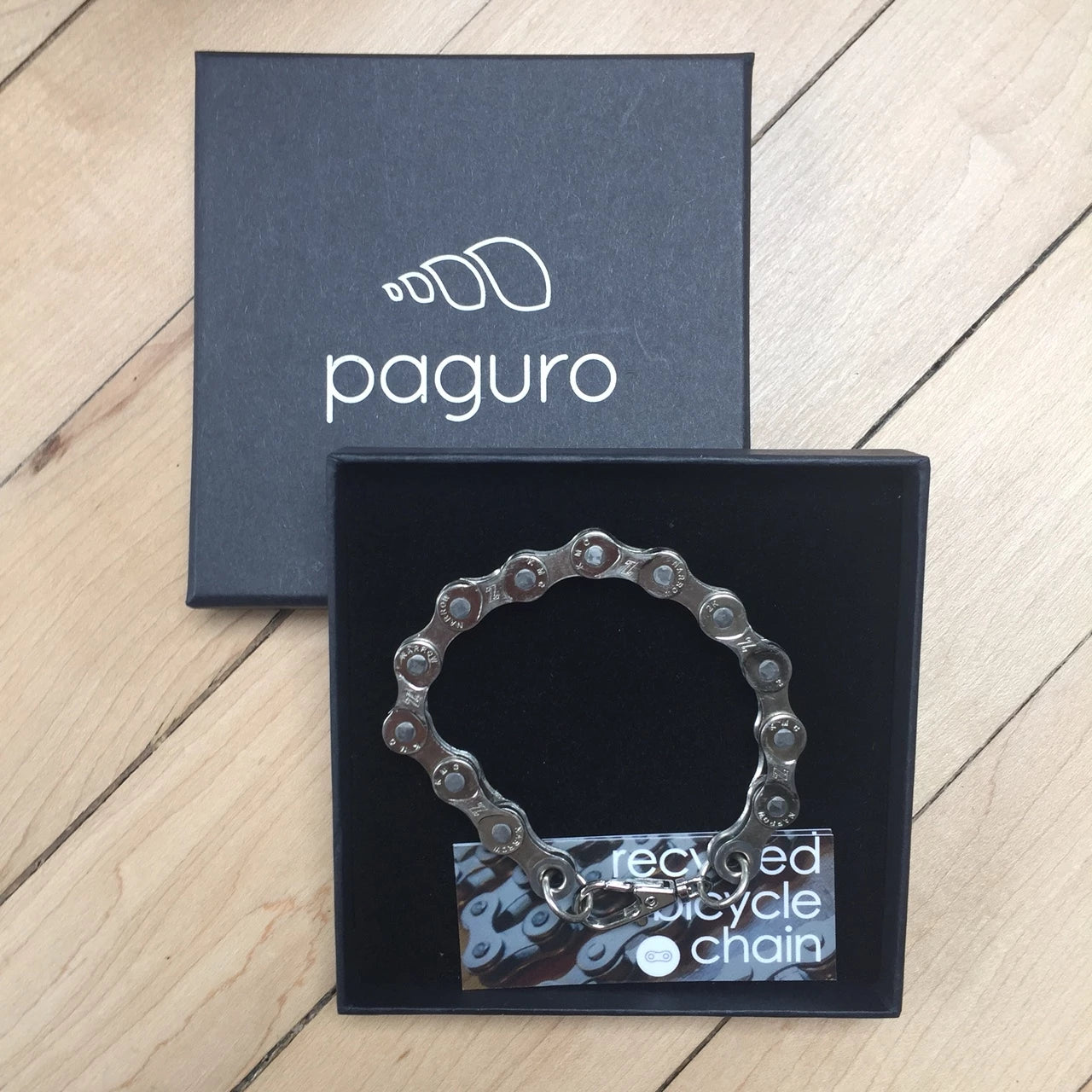 Recycled Bike Chain Bracelet by Paguro Upcycle