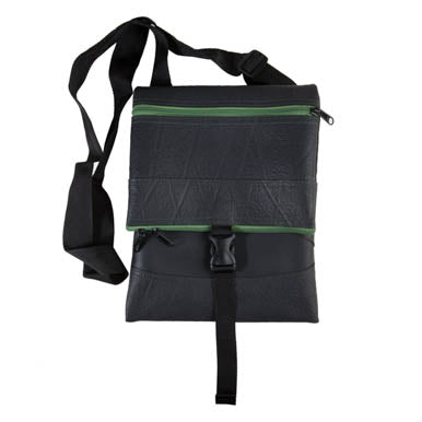 Jen Foldover Recycled Rubber Vegan Crossbody Bag (6 Colours Available)
