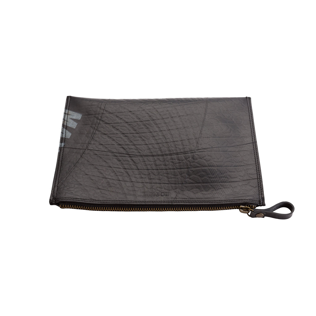 Lewis Essential Medium Flat Vegan Pouch by Paguro Upcycle