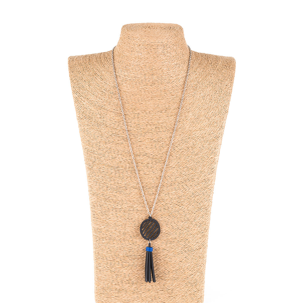 Lunar Rubber Tassel Necklace