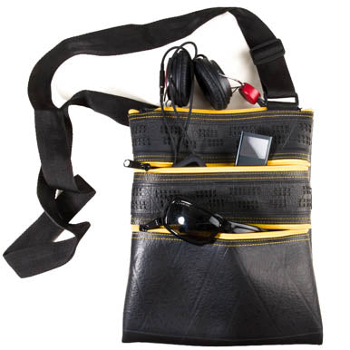 Maggie Special Recycled Rubber Vegan Handbag by Paguro Upcycle