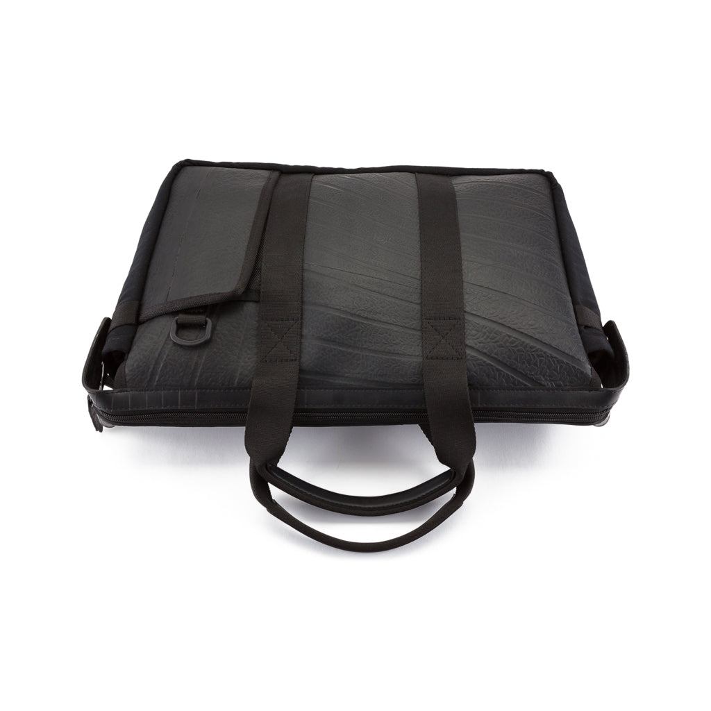 Nebula Recycled Inner Tube Padded Vegan Laptop Bag by Paguro Upcycle