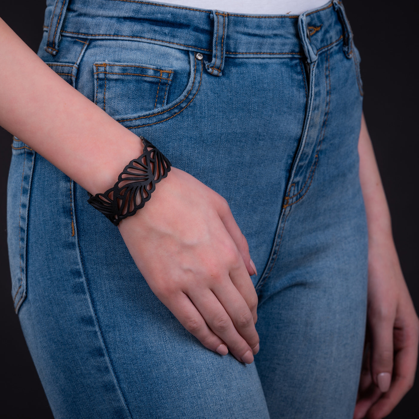 Weave Recycled Inner Tube Bracelet by Paguro Upcycle