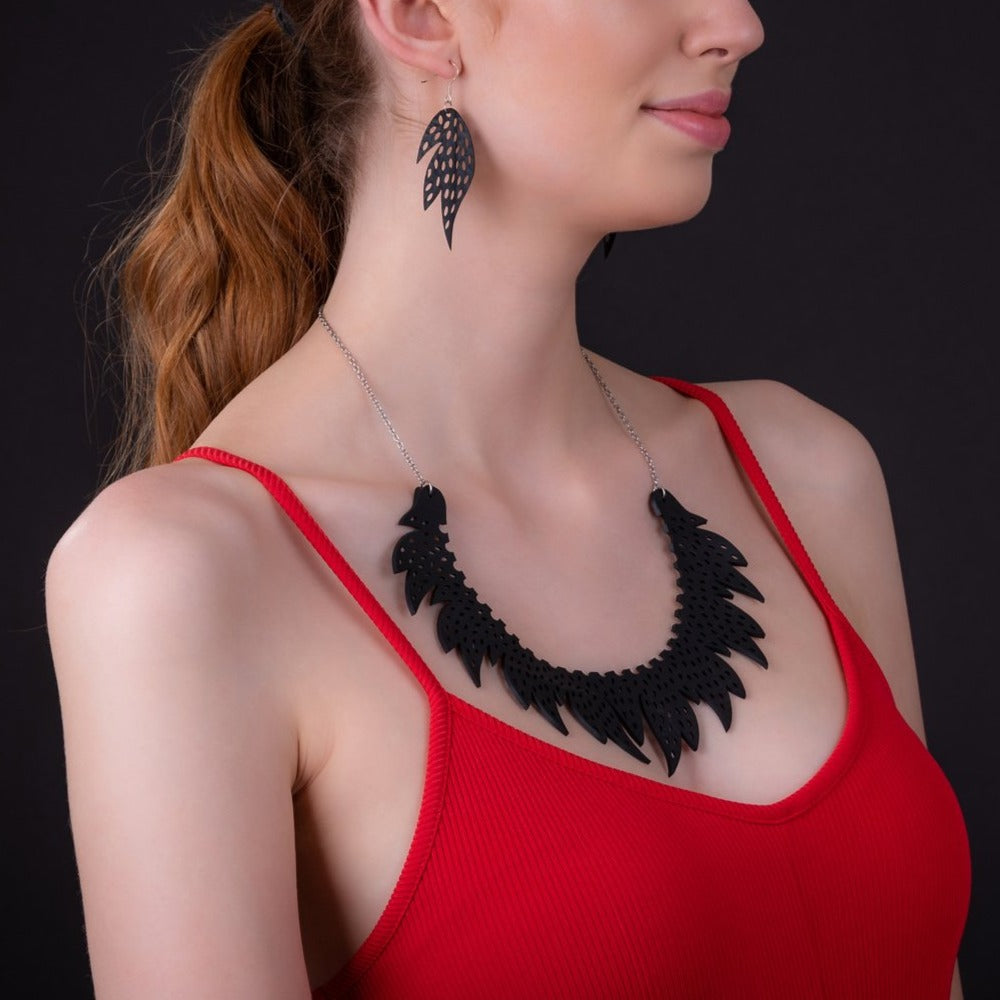 Sunburst Inner Tube Necklace by Paguro Upcycle
