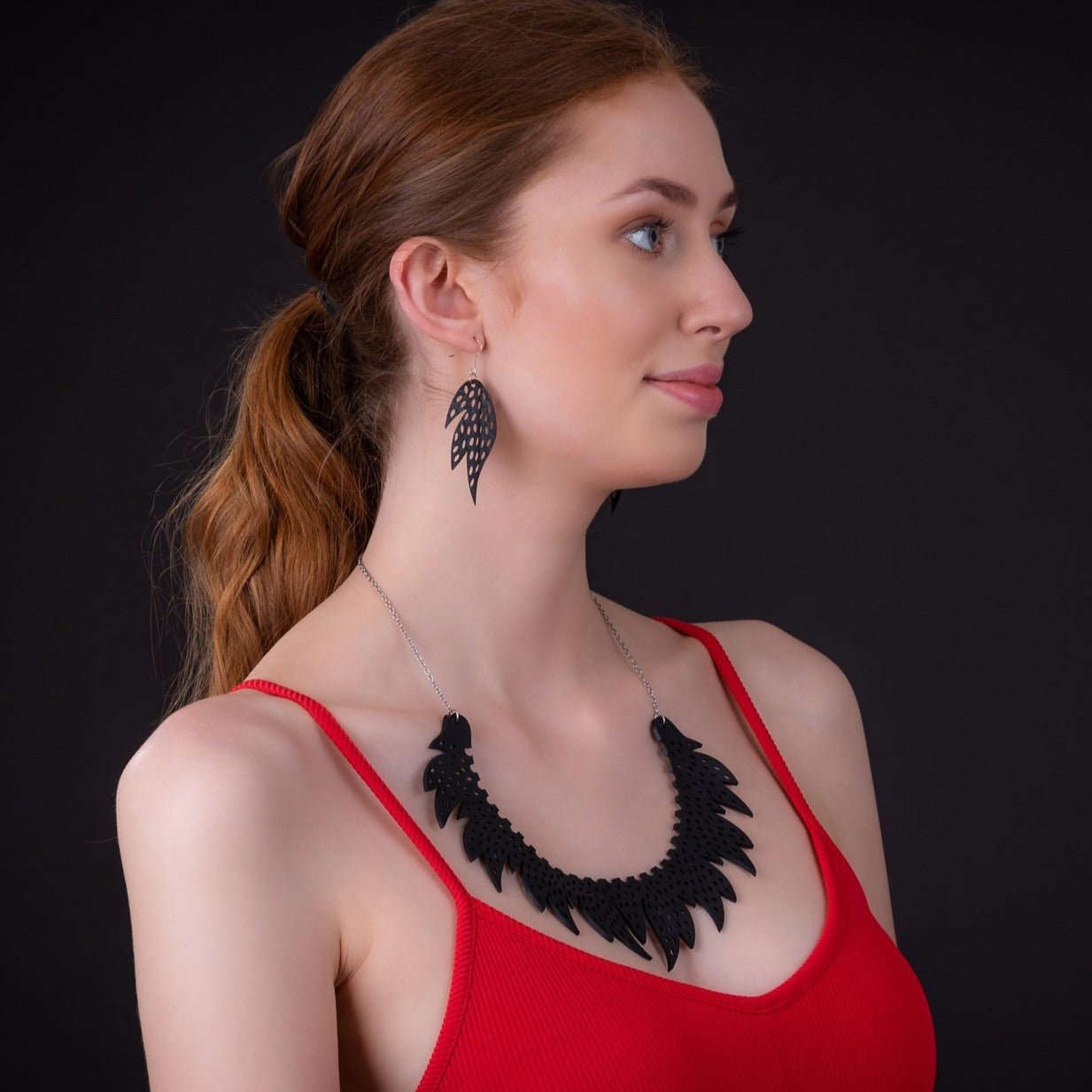 Sunburst Recycled Rubber Earrings by Paguro Upcycle