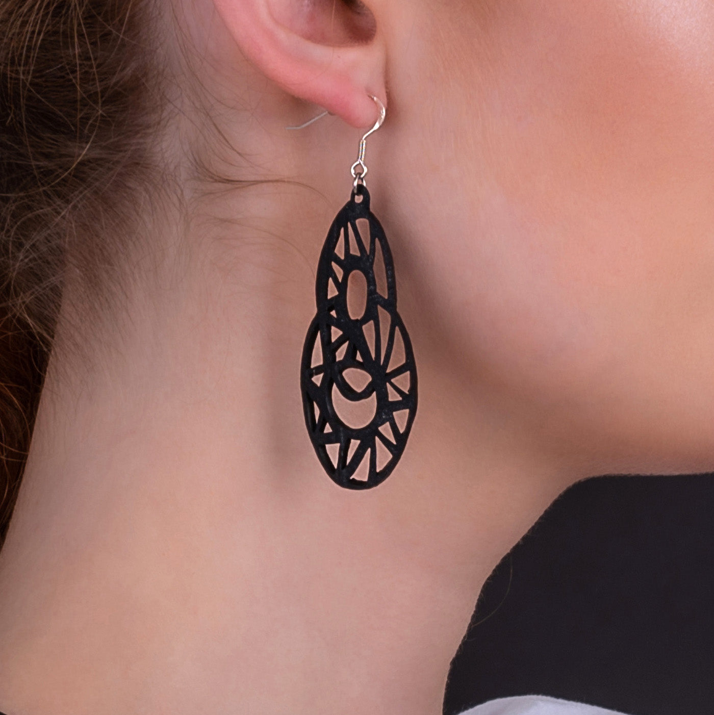 Stellar Recycle Rubber Teardrop Earrings by Paguro Upcycle