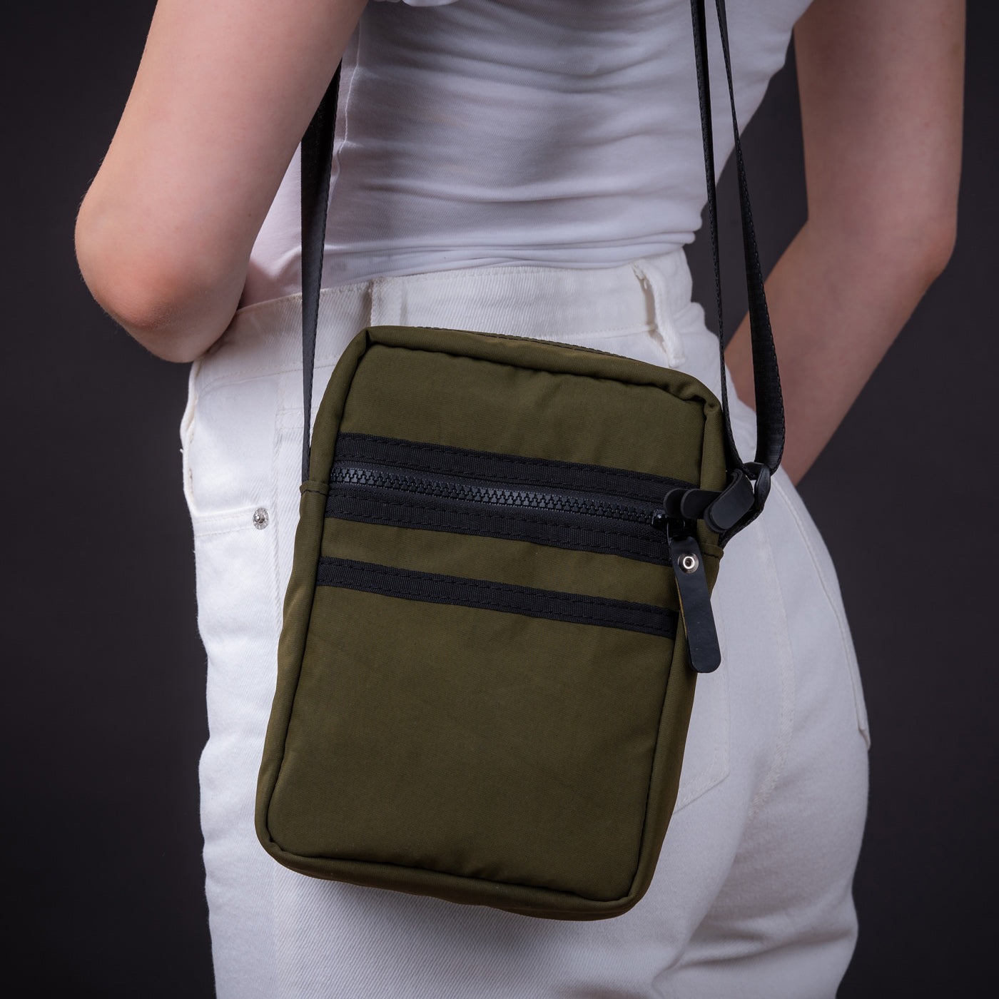 Major Vegan Crossbody Reporter Bag by Paguro Upcycle