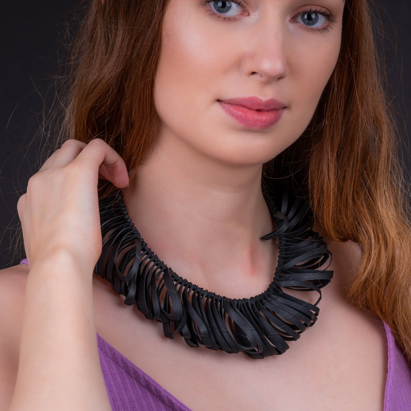 Fay Handcrafted Avant Garde Necklace by Paguro Upcycle