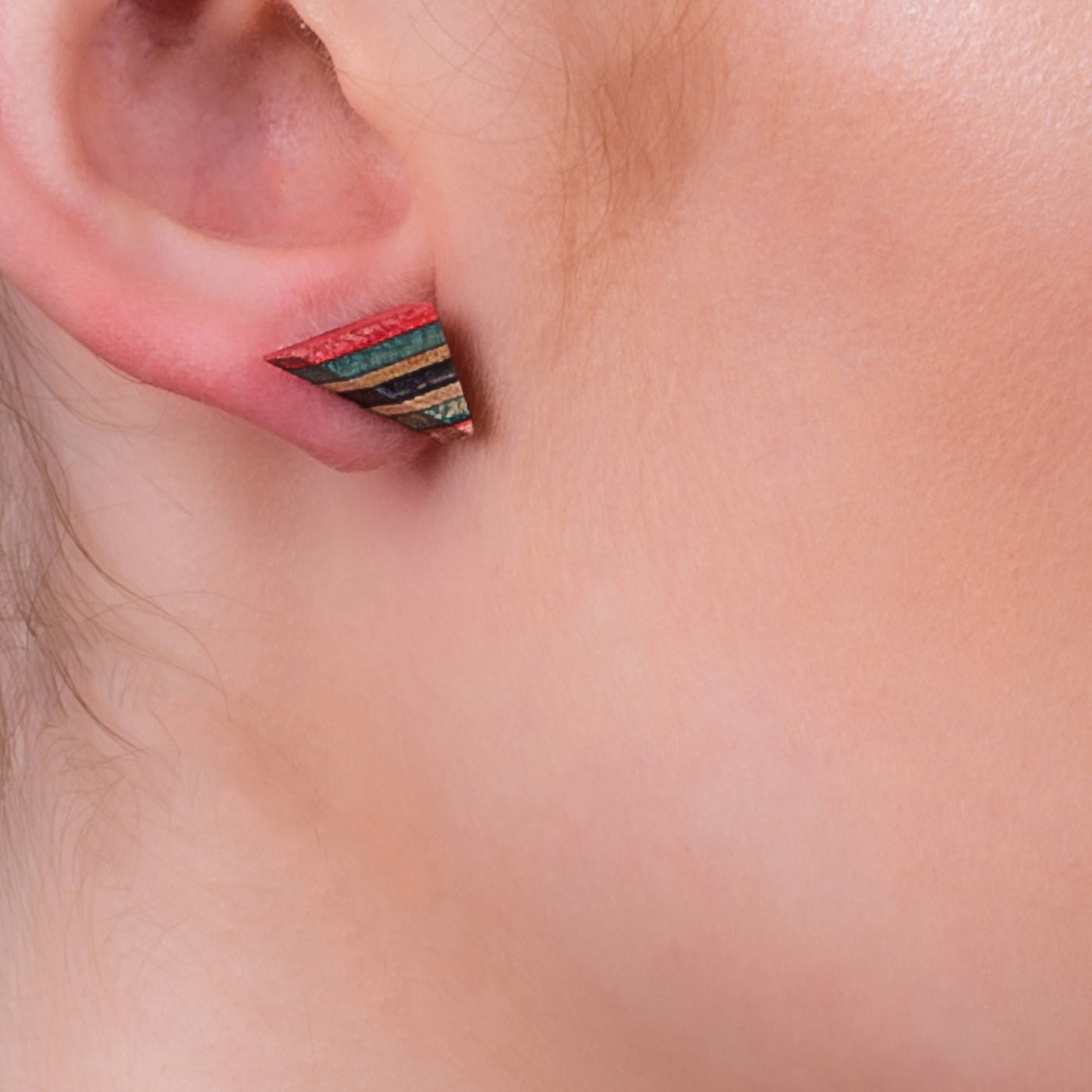 Elbow Recycled Skateboard Stud Earrings