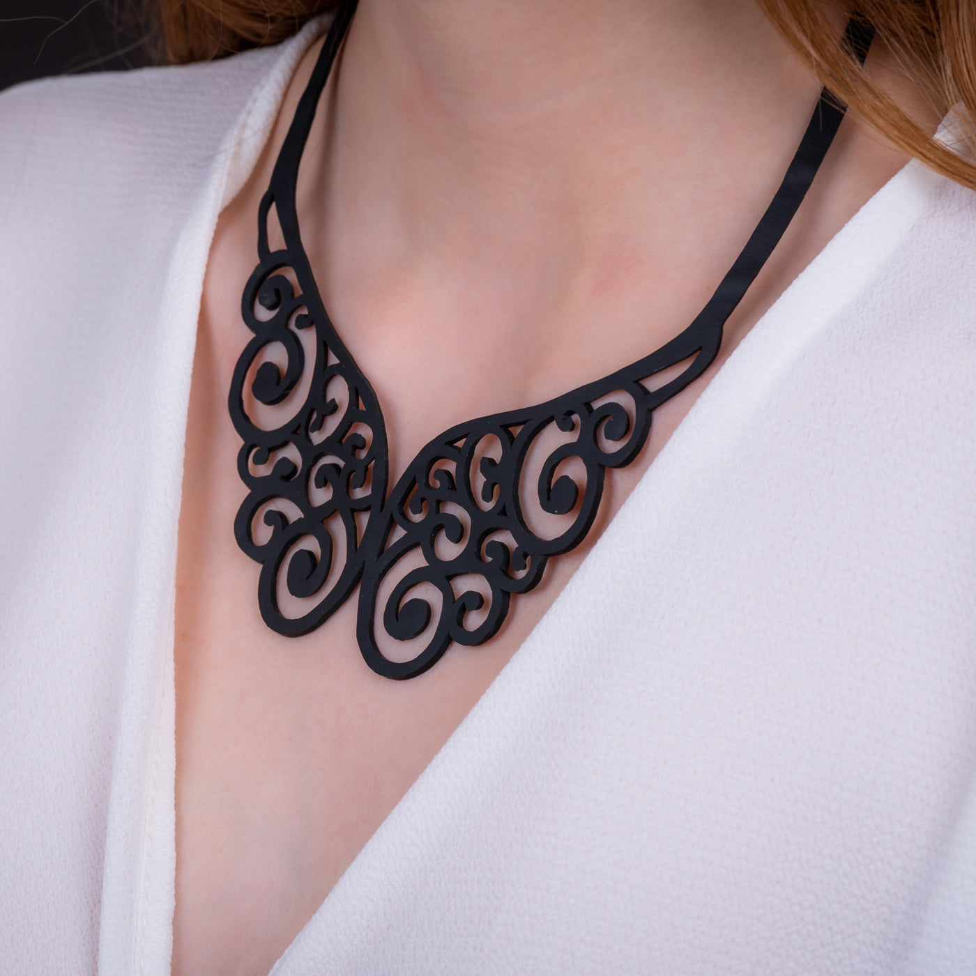 Wing Intricate Necklace by Paguro Upcycle