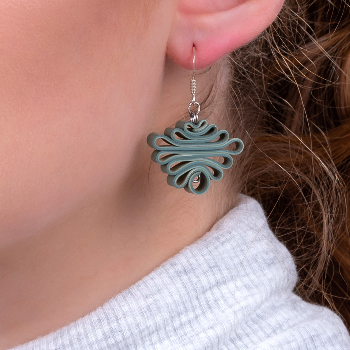 Zig Zag Recycled Rubber Earrings (3 Colours Available) by Paguro Upcycle