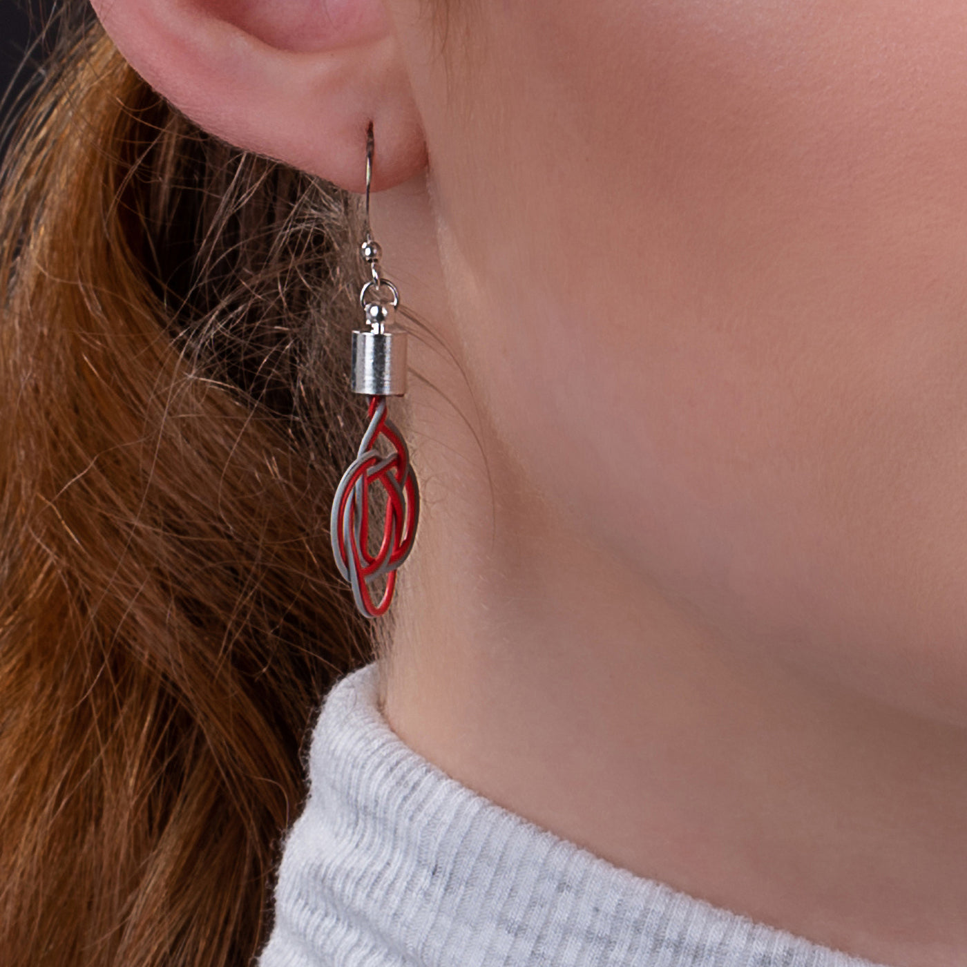 Celtic Hand Woven Electrical Wire Earrings (3 Colours Available) by Paguro Upcycle