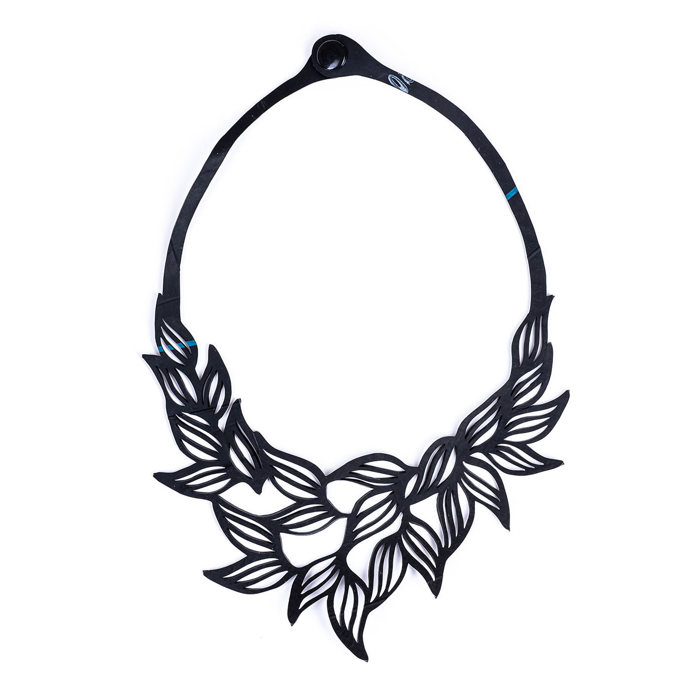 Jasmine Recycled Rubber Necklace by Paguro Upcycle