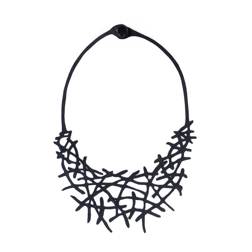 Alga Eco Friendly Rubber Necklace by Paguro Upcycle