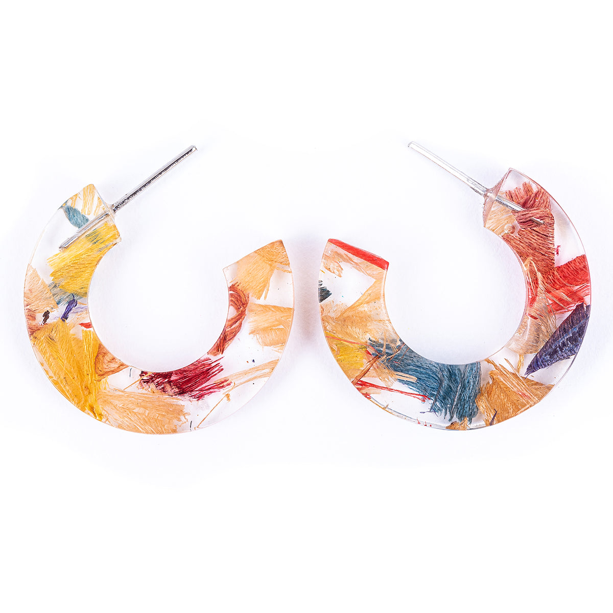 Quartilla Eco Friendly Resin Hoop Earrings