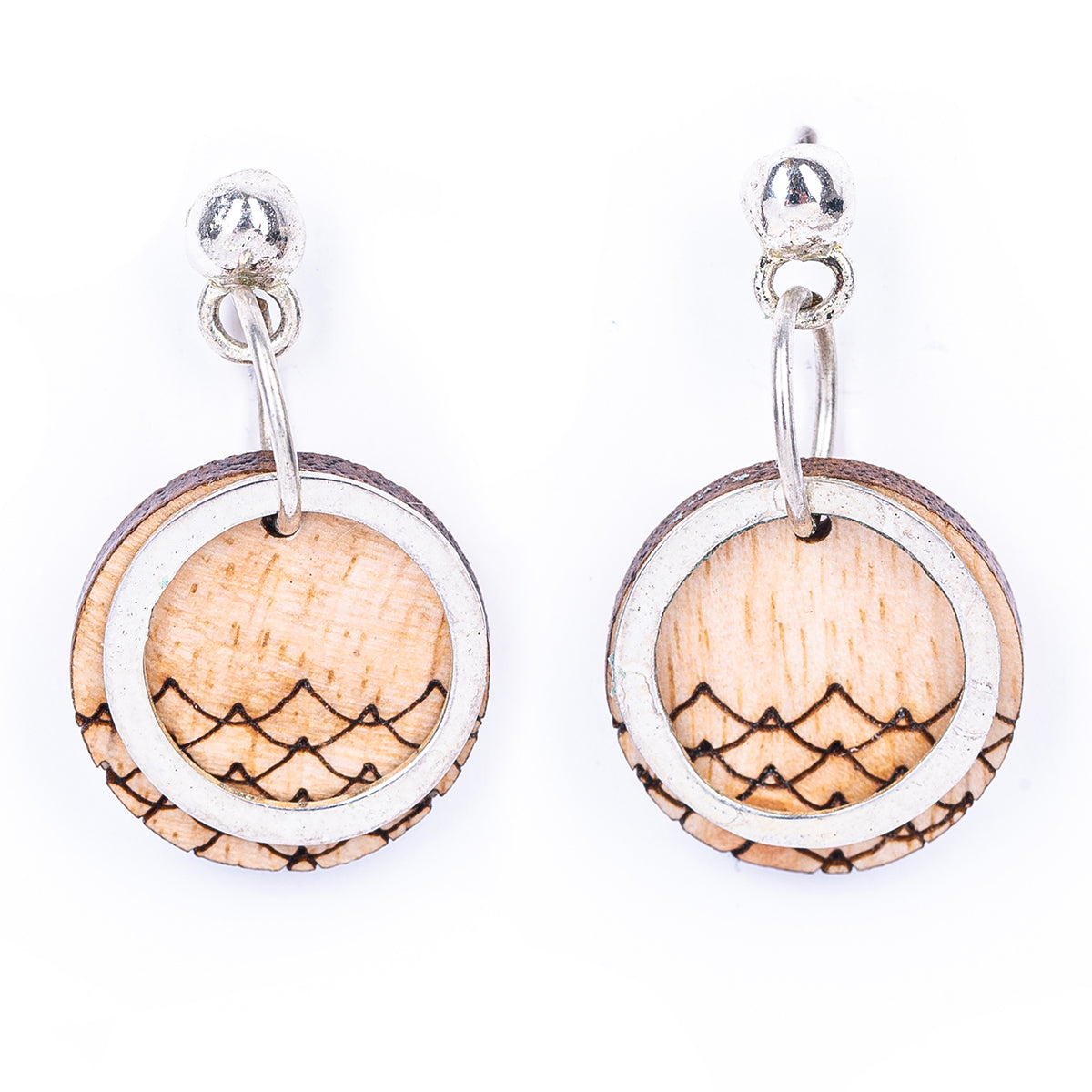 Beach Eco-friendly Recycled Wood Earrings by Paguro Upcycle