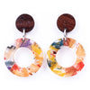 Donatello Urban Statement Resin Earrings by Paguro Upcycle