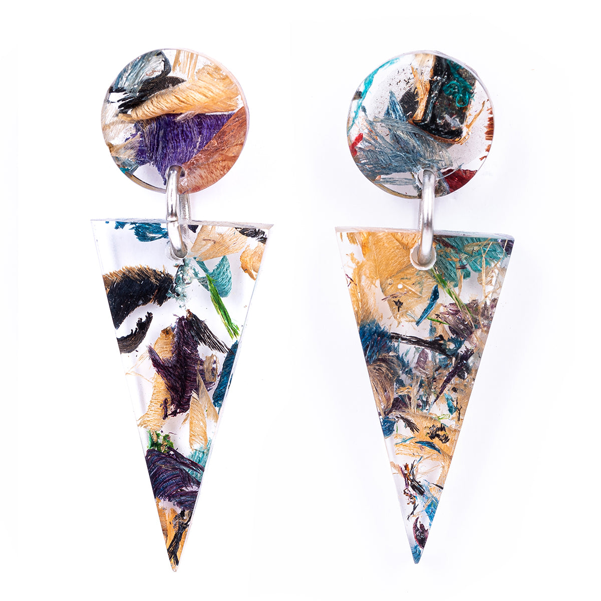 Shari Geometric Statement Resin Earrings by Paguro Upcycle