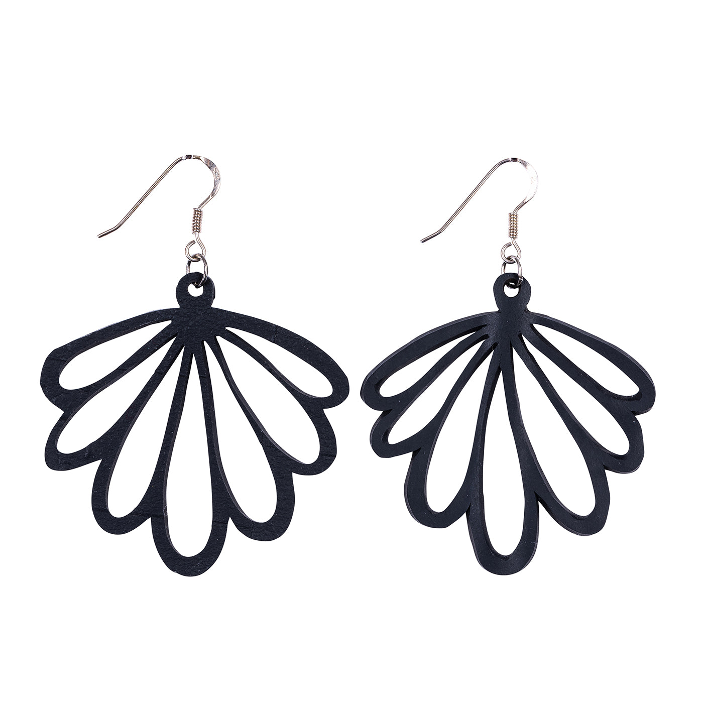 Shell Recycled Rubber Earrings by Paguro Upcycle