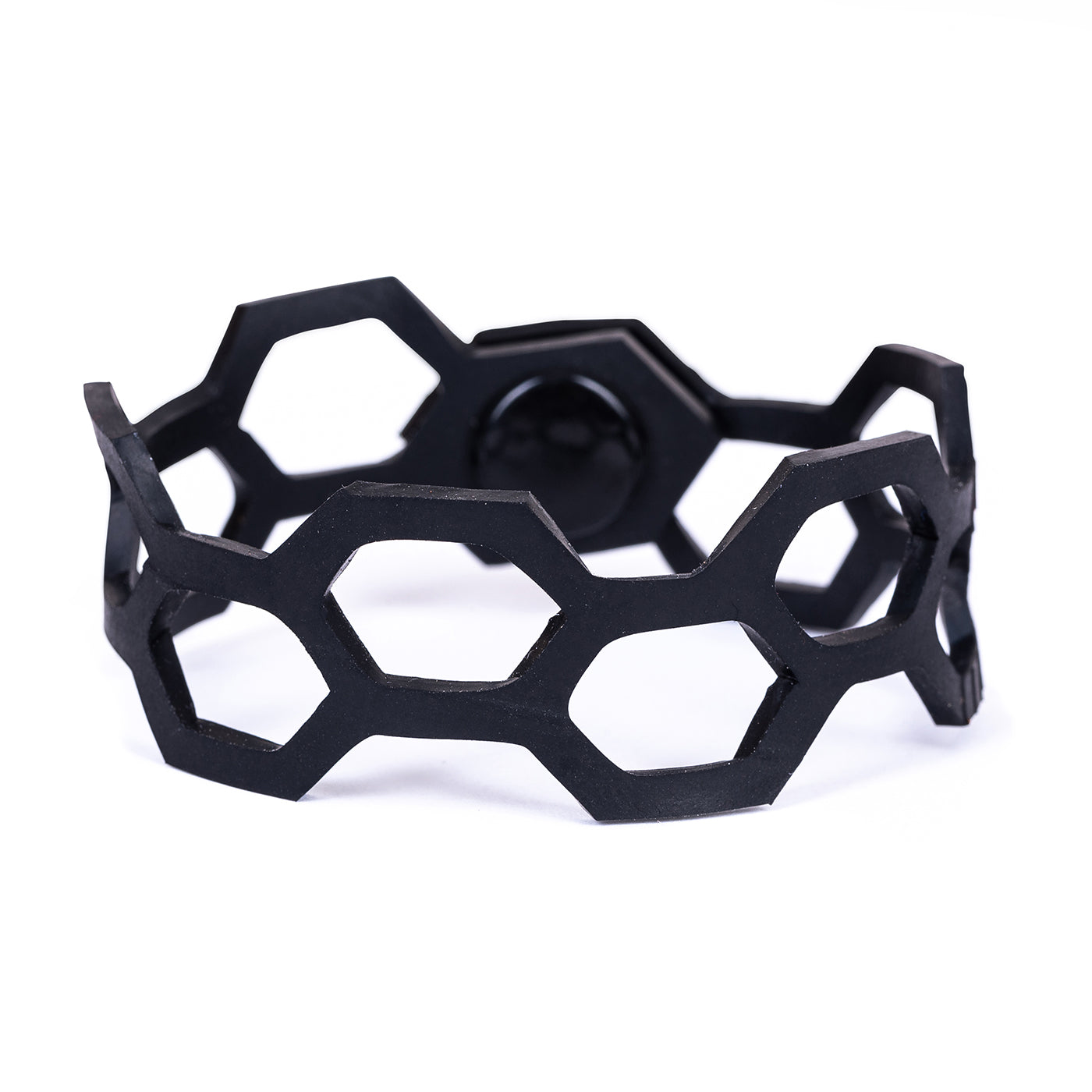 Belinda Geometric Thin Inner Tube Bracelet by Paguro Upcycle